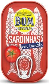 Bom Petisco Sardinen in Tomatensoße 120g
