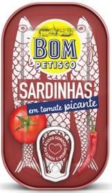 Bom Petisco Sardinen in Tomatensoße Scharf 120g