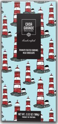 Casa Grande Milchschokolade mit Erdnüssen, Karamel und Fleur de Sel 100g