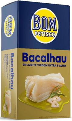 Bom Petisco Kabeljau mit Knoblauch in Natives Olivenöl Extra 120g