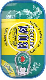 Bom Petisco Thunfisch mit Oregano in Natives Olivenöl 120g