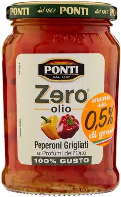 Ponti Zero Olio Gegrillte Paprikaschoten 290G