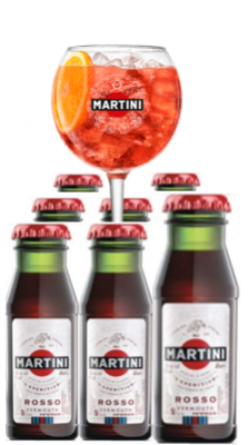 Martini Rosso 'Martinitos' Pack 50x6cl