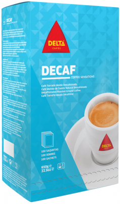 Delta Kaffee Lights koffeinfrei 1 Pack 100 x 6,5g