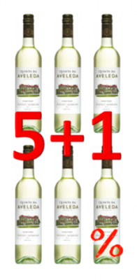 Quinta da Aveleda Vinho Verde Weisswein 2018 750 ml Aktion 5+1