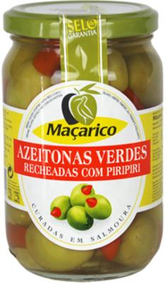 Macarico Oliven Grün gefüllt mit Hot Chilischoten 200g