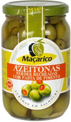 Macarico Grüne Oliven Gefüllt mit Paprikapaste 200g