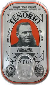 Tenorio Thunfischfilets in Natives Olivenöl Extra mit Getrocknete Tomaten und Basilikum 120g