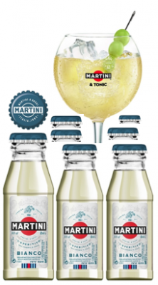 Martini Bianco 'Martinitos' Pack 50x6cl