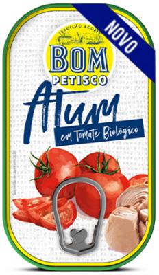 Bom Petisco Thunfischstücke in Bio Tomatensosse 120g