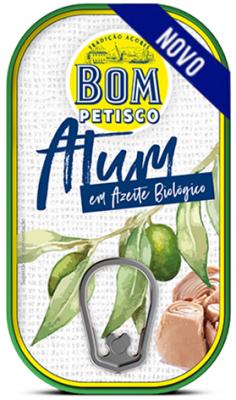 Bom Petisco Thunfischstücke in Nativem Bio-Olivenöl 120g