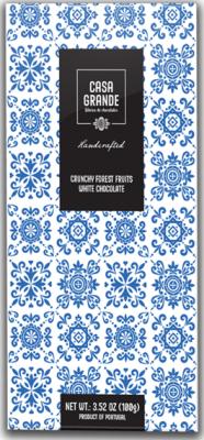 Casa Grande Weiße Schokolade mit Erdbeerkrokant und Getrocknete Himbeeren 100g