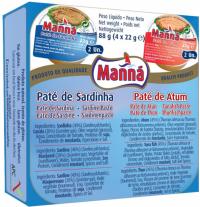 Manna Sardinen + Thunfisch Paste 4x22g