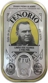 Tenorio Thunfischfilets in Natives Olivenöl Extra mit Zitronen und Chilischoten 120g